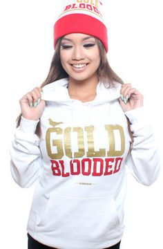 Adapt Advancers — GOLD BLOODED Women's White/Gold Hoody