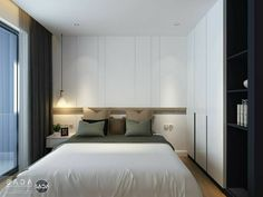 Home Decor For Small Spaces Bedroom Closet Design, Small Bedroom Designs, Modern Bedroom Design, Bed Design, Bedroom Apartment, Home Bedroom, Room Decor Bedroom, Bedroom Furniture, Small Master Bedroom