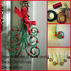 Wire and Bead Christmas Decorations part 2