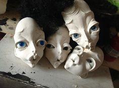 Galina Dmitruk Paper Dolls, Art Dolls, Paper Mache Clay, Gothic Dolls, Polymer Clay Dolls, Bjd, Paperclay, Doll Repaint, Doll Maker