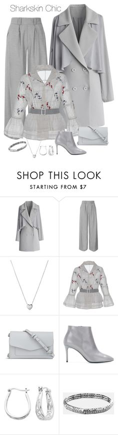 """""""Color of Fashion: Sharkskin Chic"""" by susan0219 ❤ liked on Polyvore featuring Chicwish, Topshop, Links of London, Rahul Mishra, Vera Bradley, Balenciaga, Belk Silverworks and Avenue"""
