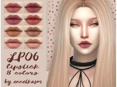 The Sims 4 LIPSTICK LP06 by ennetkasm