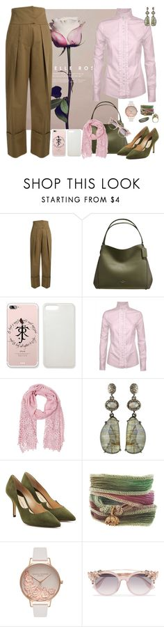 """""""with Rose"""" by petalp ❤ liked on Polyvore featuring Preen, Coach, DUBARRY, Betsey Johnson, Bavna, Paul Andrew, Catherine Michiels, Olivia Burton, Jimmy Choo and Pink"""