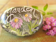 Painted Rock Garden Decor Home and Garden Decor by TanaBarisoff