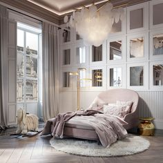 Fabulous children's room design for a little girl. Every girls dream interior! Pink, pastel color pallet design is everything you wish in perfect girls bedroom. Home Room Design, Kids Room Design, Home Interior Design, Modern Luxury Bedroom, Luxurious Bedrooms, Dream Rooms, Dream Bedroom, Design Hall, Room Ideas Bedroom