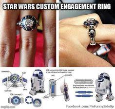Star Wars custom engagement ring
