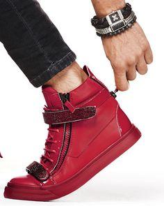 günstig Giuseppe Zanotti Sneaker Crystal-Strap