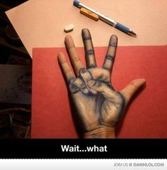 Hand Drawing by acevesgame - A Member of the Internet's Largest Humor Community Cool Pencil Drawings, Amazing Drawings, Amazing Art, Art Drawings, Hand Kunst, Hand Art, Art Tips, Art Inspo, Art Reference