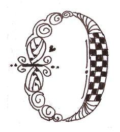 Zen Doodle Tangle Tangles Letter Art Alphabet Soup Script Lettering Calligraphy Typography Doodles Zentangles