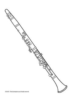 Coloring page clarinet - coloring picture clarinet. Free coloring sheets to print and download. Images for schools and education - teaching materials. Img 5951.