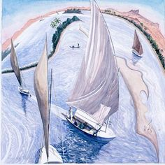 View the painting: Egypt Feluccas on the Nile by Francis Farmar John Galliano, Clarks, Steve Madden, Beautiful Paintings, Egypt, Boats, Sailing, Ships, Ocean
