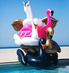 Giant floating water inflatable pool flamingo,inflatable flamingo