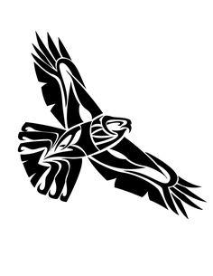 Tribal Hawk Flying by CoyoteHills.deviantart.com on @DeviantArt