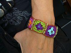 Armbänder & Armreife - ••• Armband aus Mini-Granny-Squares ••• - ein Designerstück von crochet bei DaWanda