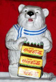 Polar Bear Coke Delivery Cookie Jar