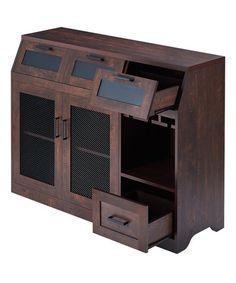This Vintage Walnut Kiana Metal Storage Buffet is perfect! #zulilyfinds