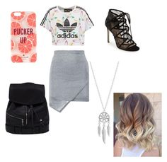 """"""""""" by yarlin-perez on Polyvore featuring adidas Originals, Pour La Victoire, Kate Spade and Lucky Brand"""