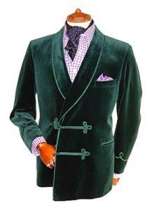 of course, the velvet smoking jacket