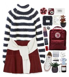 """Baby it's cold outside..."" by natznatynatz ❤ liked on Polyvore featuring Rebecca Minkoff, Converse, Fjällräven, Polaroid, Davines, Lux-Art Silks, H&M, Ippolita, Stila and Oskia"