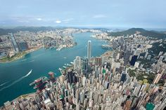 Hong Kong - this is the view from The Peak.  It is a great place to visit and to live.  My family and I lived in Repulse Bay for 8 years and think of our time there often.