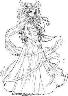 Coloring Page: KiwiRose by SoliaArtTeam.deviantart.com on @deviantART