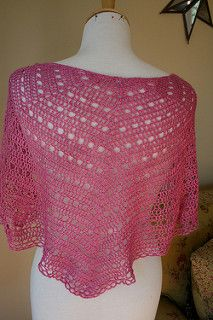 This is a top down shawl pattern which should work with any yarn weight.