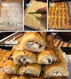 Baklavalık Yufkadan Sodalı Çıtır Börek Malzemeler 1 paket baklavalık yufka(35 adet) İçi için; Bir kase beyaz peynir Maydanoz Sosu için; 1 bardak soda(ma... - f. özbağ - Google+