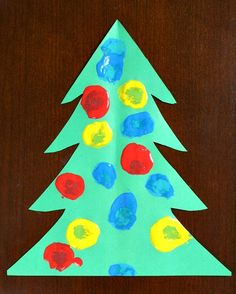 Pom Pom Painting Christmas Tree Craft for Toddlers - Fantastic Fun and Learning Handprint Christmas Tree, Paper Christmas Ornaments, Christmas Arts And Crafts, Christmas Tree Painting, Holiday Crafts, Christmas Activities For Toddlers, Preschool Christmas, Toddler Christmas, Christmas Fun