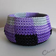 Charry Purple crocheted baskets
