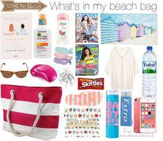 What's in my beach bag // Becca-Jane Blog