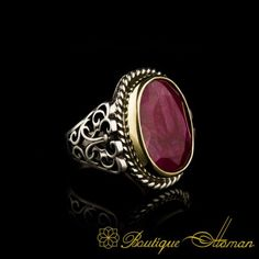 Root Ruby Silver Men Ring by Boutique Ottoman Exclusive Jewelry Shop. Check our classic and notable 925 sterling silver jewelry. Jewelry Shop, Jewelry Stores, Sterling Silver Jewelry, Silver Rings, Ruby Stone, Silver Man, Gemstone Rings, Rings For Men, Jewels