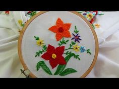Hand Embroidery Designs | Button hole puffed stitch | Stitch and Flower-78 - YouTube