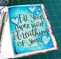 art journal ...love Lori's art journal pages and lettering at elviestudio