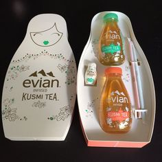 KUSMI TEA x Evian Packaging Design