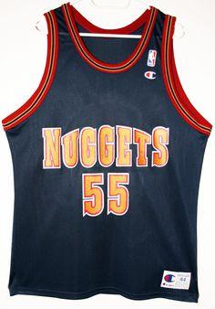 cb67bee14b9 Champion NBA Basketball Denver Nuggets  55 Dikembe Mutombo Trikot Jersey  Size 44 - Größe