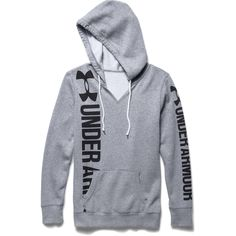 Under Armour Women's Favorite Fleece - Branded Hoodie (True Gray Heather) Under Armour Outfits, Nike Under Armour, Under Armour Hoodie, Under Armour Shoes, Under Armour Women, Womens Workout Outfits, Sporty Outfits, Sporty Style, Athletic Outfits