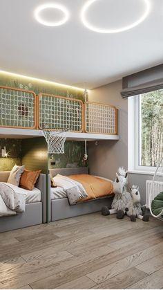 Modern Kids Bedroom, Cool Kids Bedrooms, Kids Bedroom Designs, Kids Room Design, Home Room Design, Awesome Bedrooms, Cool Rooms For Kids, Small Kids Rooms, Home Bedroom