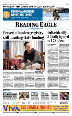 Today's front page, Feb. 15, 2016.