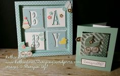 KathieLovesStamping.wordpress.com    Stampin Up; Something for Baby stamp set; Large Letter Framelits