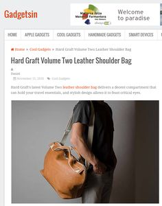 Hard Graft Volume Two Leather Shoulder Bag Hard Graft, Cool Gadgets, Travel Essentials, Leather Shoulder Bag, Traveling By Yourself, Eyes, Stylish, Design, Travel Must Haves