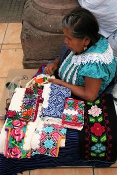 """Selection of Mexican embroidery """"Textiles of life in Mexico"""" – Textiles Vivir will document villages, festivals, markets, resources where textiles / garments that are still being used and made by indigenous cultures in various parts of Mexico Mexican Artists, Mexican Folk Art, Mexican Style, Mexican Embroidery, Folk Embroidery, Art Magique, Art Tribal, Mexican Textiles, Mexican Heritage"""