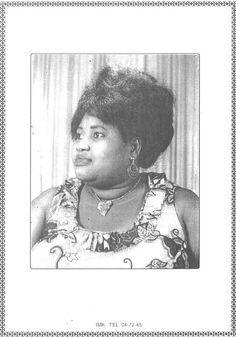 Ma mère Thérese Afiwa MENSAH mariée EKUE feu défunte décédée ici la description de sa carte de voeux des cérémonies du funéraille