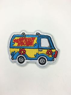 """""""I would have gotten away with it, too, if it wasn't for you meddling kids!"""" 3""""×2"""" Mystery machine; iron-on. Recommend sewing the edges for an extra secure application and to ensure your emblem of pea"""