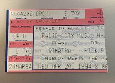 Frank Sinatra Concert Ticket Stub Radio City Music Hall Don Rickles 1994