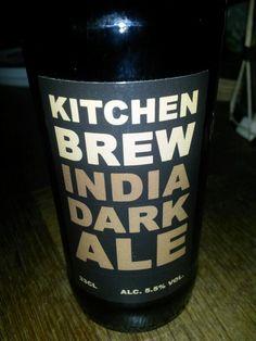 kitchen brew. india dark ale. 5.5%