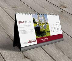 Desk Calendar 2016 Template KB20-W7 Digital by CalendarsTemplates