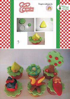 STEP BY STEP GIRL, TREE, AND OTHERS TO DECORATE THE CUPCAKES PART N°3