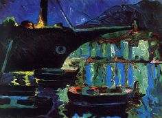 Salvador Dali:Port of Cadaques (Night) (1919)