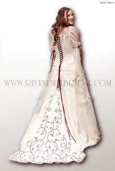 Elanor, Rivendell Bridal UK. Love the back of this dress but not the sleeves and it would have to be purple of course!