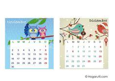 Calendario de mesa 2015 - Mesas de noviembre y diciembre